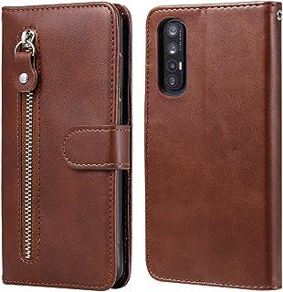 غطاء خلفي YPShell من أجل OPPO Reno3 Pro/Find X2 Neo Fashion Calf Texture Zipper Horizontal Flip Leather Case مع حامل وفتحا...