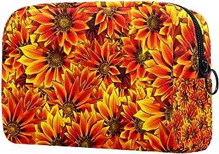 Sunflowers Makeup Bag Toiletry Bag for Women Skincare Cosmetic Handy Pouch Zipper Handbag