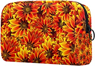Sunflowers Makeup Bag Toiletry Bag for Women Skincare Cosmetic Handy Pouch Zipper Handbag