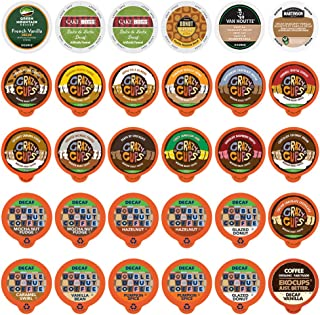 FLAVORED DECAF COFFEE Single Serve Cups for Keurig K cup Brewer Variety Pack Sampler (30 Count)