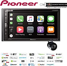 """Pioneer AVH-2550NEX 6.8"""" DVD/CD Receiver with Apple CarPlay and Android Auto + Bullet Style Backup Camera Bundle with Sound of Tri-State Lanyard"""