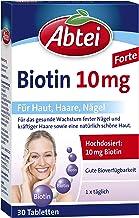 Abtei Biotin10mg - hochdosiertes Arzneimittel für gesunde Haut, schöne Haareund feste Nägel - vegetarisch, glutenfrei, gel...