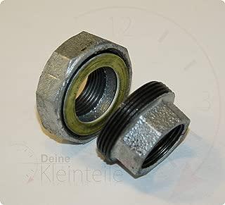 De acero galvanizado racor de hierro a través de velocidades de boquilla de accesorios para guarniciones PEX de unión, 1