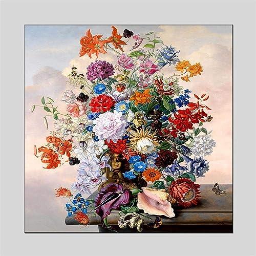 mejor precio Pintado A Mano Moderno Pintura Pintura Pintura Al óleo Salón Dormitorio Porche Pasillo Floral Decorativo Mural 70  70Cm  liquidación hasta el 70%