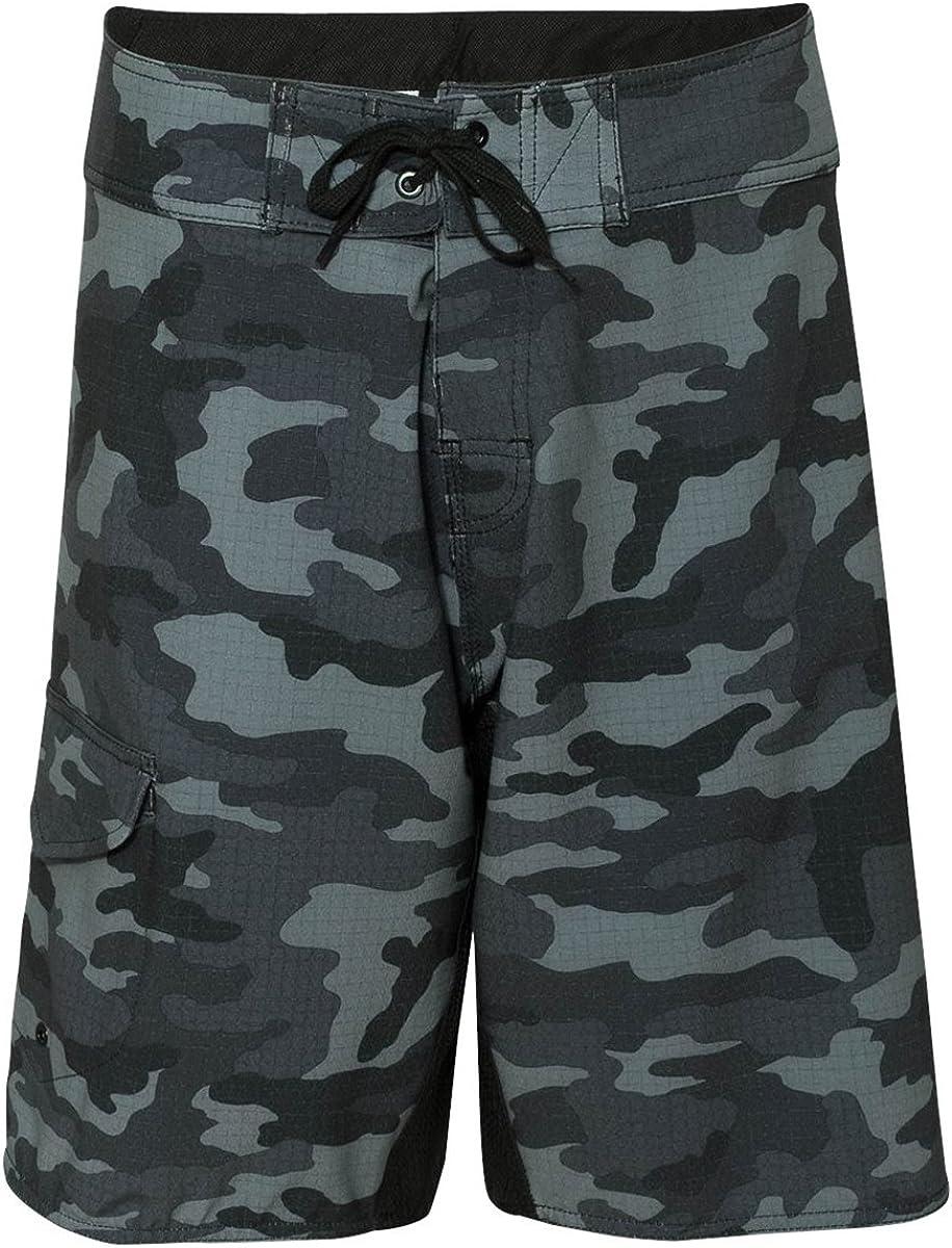 Burnside Mens Camo-Diamond Dobby Board Shorts-B9371