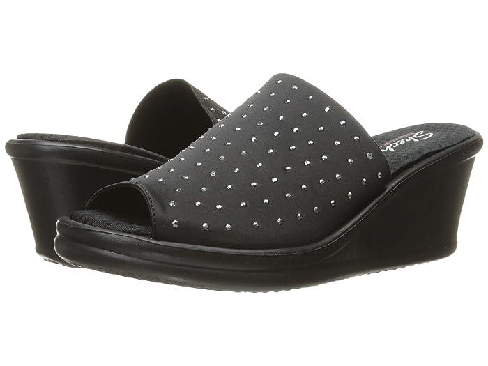 SKECHERS  Rumblers - Silky Smooth (Black) Womens Shoes