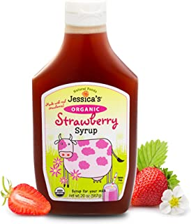 Jessica's Natural Foods - Organic Strawberry Syrup made with real strawberry puree. No artificial flavors, colors or prese...
