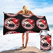 Shenhuakal Quick Dry Towel BTS JIN Property Funny Bath Towel Lightweight Washcloth for Beach
