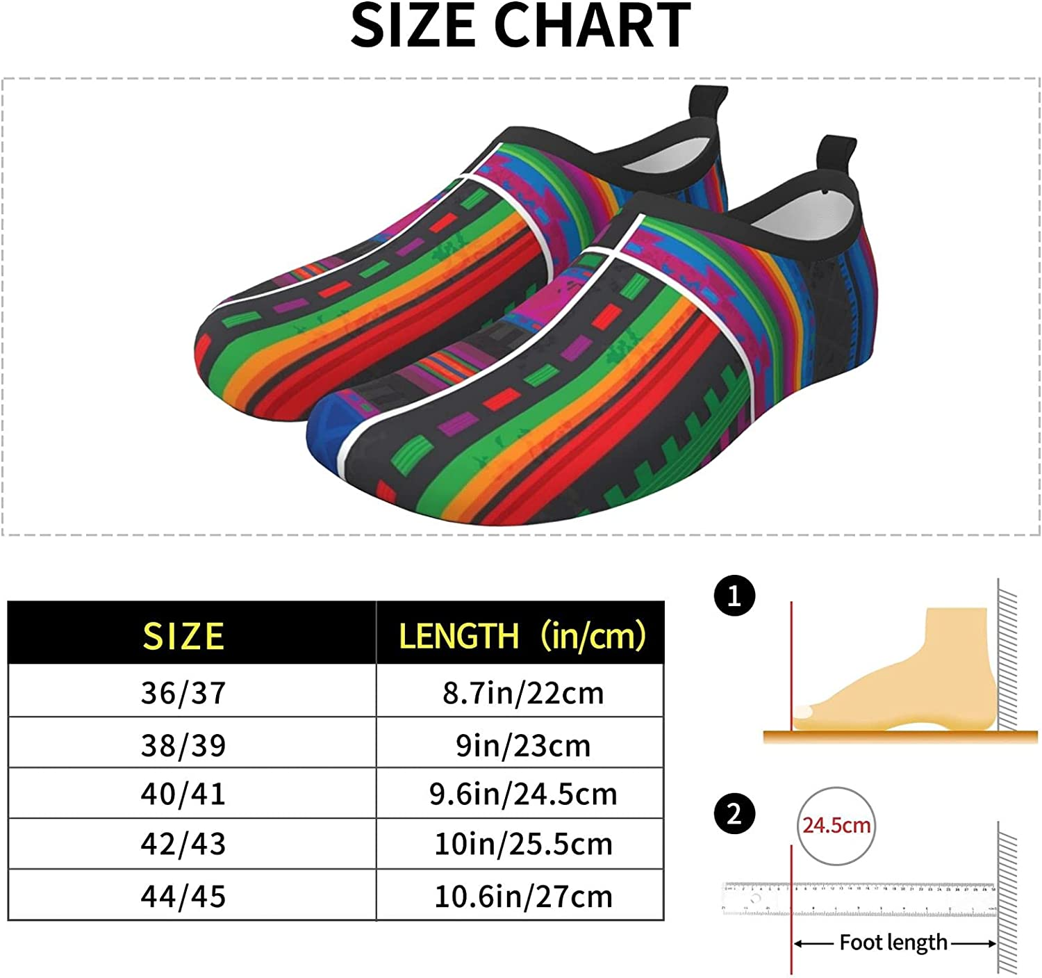 Set of Four Traditional Mexican Womens and Mens Water Shoes Barefoot Quick-Dry Aqua Socks Slip-On for Outdoor Beach Swim Yoga