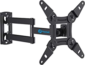 Best Full Motion TV Monitor Wall Mount Bracket Articulating Arms Swivels Tilts Extension Rotation for Most 13-42 Inch LED LCD Flat Curved Screen TVs & Monitors, Max VESA 200x200mm up to 44lbs by Pipishell Reviews