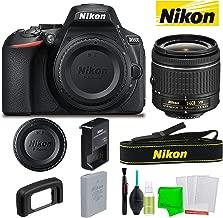 Nikon D5600 24.2MP DSLR Camera AF-P DX 18-55mm Lens Kit + Battery + Charger + Strap + Cleaning Kit Accessories Vlogger Basic Bundle