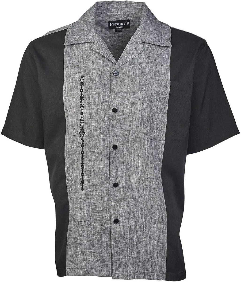 Penner's El Hombre Retro Camp Button Down Short Sleeve Shirt