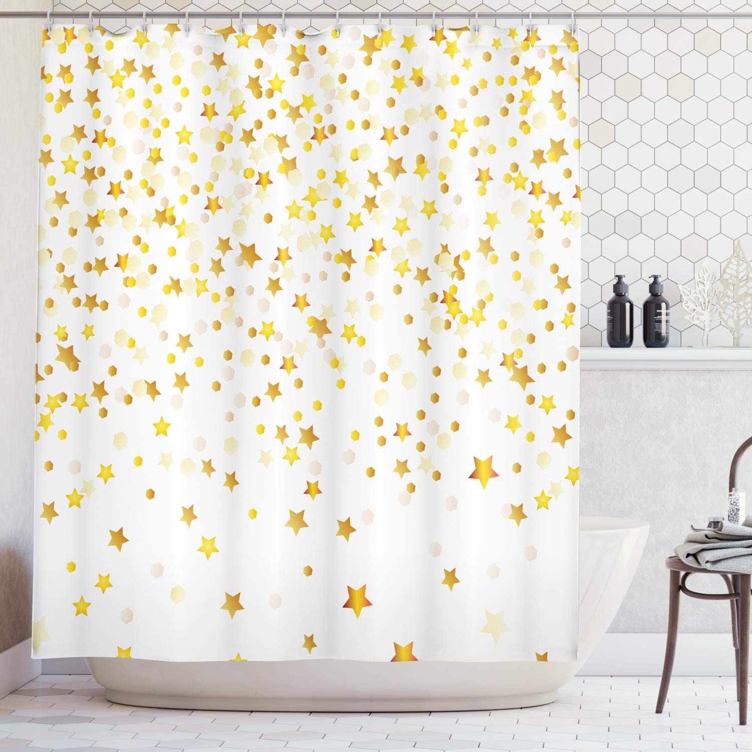 Ambesonne Abstract Classic Shower Curtain Sparsed Stars Dreamy and Max 51% OFF Spot