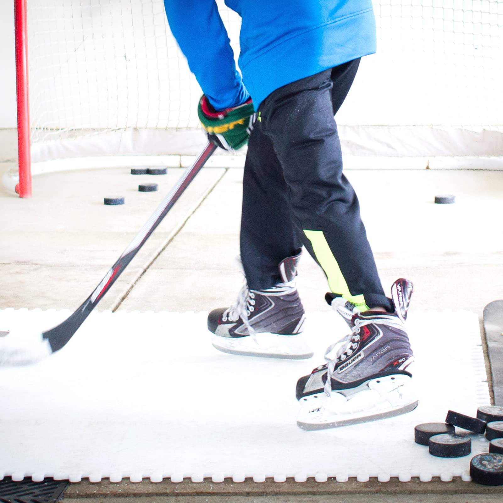 Skate Anytime Synthetic Ice For Hockey Skateable Artificial Ice Tiles Backyard Ice Rink Starter Kit Buy Online At Best Price In Uae Amazon Ae Best backyard ice rink kit canada