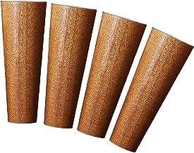 Dxbqm 4 stuks houten bankpoten, taps toelopende salontafel meubels voeten, massief houten nachtkastje tafelbeen, vervangin...