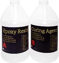 Clear Epoxy Resin for Table Tops, Bars, Fiberglass, Concrete - Professional Grade High Gloss Finish Multi-Purpose Resin - 2 Gallon Kit