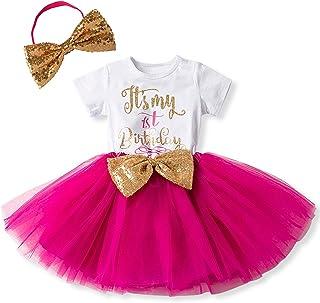 4bafe85553881 IWEMEK Nouveau-né Bébé Enfants Bambin Filles élégant Bowknot Robes de 1er    2ème Anniversaire