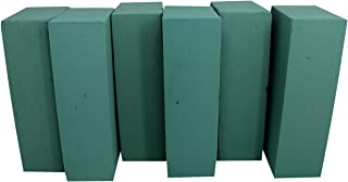 Floral Foam Blocks | Florist Flower Styrofoam Green Craft Bricks Applied Dry or Wet | Set of 6