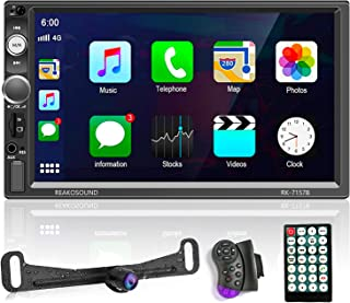 $99 » Podofo Car Stereo Radio Receiver with Apple D-Play, Bluetooth car Radio with 7 Inch HD Touchscreen Support Subwoofer/USB/F...