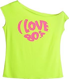 2a6464388d87c JustinCostume Women s 80 s T Shirt 1980 s Costume