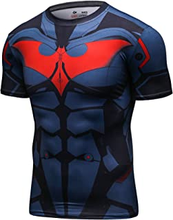 Men's Compression Sport Tight Bat Running T Shirt