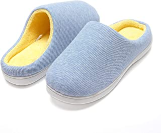 Harrms Women`s House Slippers, Memory Foam Anti-Slip Two-Tone Mules Clogs for Ladies, Indoor Outdoor Slip On Shoes