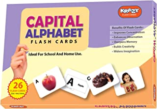 Capital Alphabet Krazy Early Learning Educational Flash Card for preschooler (3 Month to 6 Years)