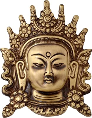 Two Moustaches Tara Devi Face Brass Wall Hanging