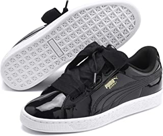 Puma Girl's Basket Heart Patent Jr Leather Sneakers