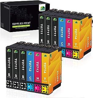 JARBO Reemplazo para Epson T0711 T0712 T0713 T0714 (T0715) Cartuchos de tinta Alta capacidad Compatible con Epson Stylus SX218 SX515W DX4000 DX4400 DX7400 DX8400 SX115 SX205 SX215 SX405 SX210