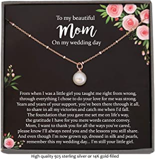 Necklace with Meaningful Message Floating Pearl Wedding Day Gifts for Bride from Groom