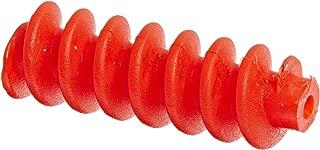Ajax Scientific Plastic Gear Worm, 0.82cm Diameter x 2.46cm Length, Small, Red (Pack of 10)