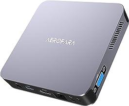 Mini PC Computer, Aerofara Aero 2 Windows 10 Mini Computer 8GB LPDDR4/ 256GB SSD, Intel Celeron J4125 Quad-Core CPU (4C/4...
