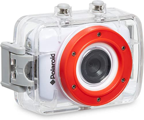 Polaroid XS7 Waterproof Hi-Def HD Sports Video Camera Camcorder with 8GB Memory Card with Helmet & Bike Mounts