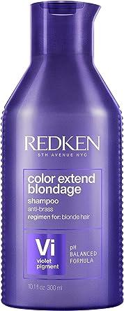 Redken Color Extend Blondage Shampoo Professionale | Capelli Biondi | Pigmenti viola per capelli biondi, deterge delicatamente, neutralizza i riflessi caldi e rinforza i capelli biondi