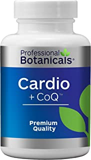 Professional Botanicals Cardio-CoQ CoQ10 - Vegan Formulated Coenzyme Q10 with Hawthorne Berry Valerian Root and Cayenne Pepper - Herbal Heart Health Support - 60 vegetarian capsules