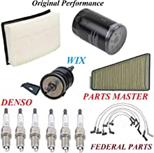 8USAUTO Tune Up Kit Air Cabin Oil Fuel Filters Wire Spark Plug Fit FORD TAURUS V6 3.0L OHV 2001
