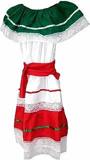 Girl's Traditional Cinco de Mayo Dress Costume, White