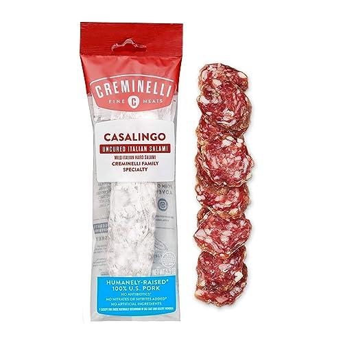 Creminelli Italian Casalingo Salami, Delicately Flavored, Salt and Pepper, Fine Sandwich Meat, 5.5 oz