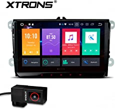 XTRONS 9 Inch Android 8.0 Octa Core 4G RAM 32G ROM HD Digital Multi-Touch Screen OBD2 DVR Car Stereo Player Tire Pressure Monitoring WiFi OBD2 NO-DVD for VW EOS Passat Golf New Version DVR Included