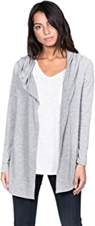 A+D Womens French Terry Open Front Hoodie Cardigan Jacket Top
