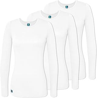 c33b5c2d37f Adar Medical Uniforms (3 Pack) Women's Pop-Stretch Crossover Scrub Top  Hospital Workwear