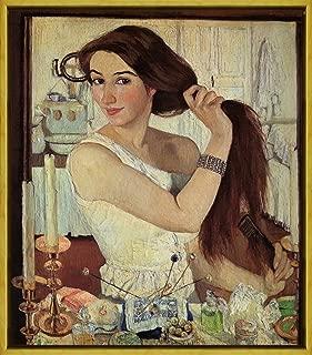 Berkin Arts Framed Zinaida Serebriakova Giclee Canvas Print Paintings Poster Reproduction(Self-portrait)