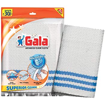 Gala Microfiber Advance Floor Cleaning Cloth(Pocha) for Mopping - Pack of 2