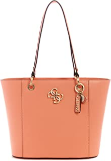 Guess Noelle Small Elite Tote Bag For Women, Coral