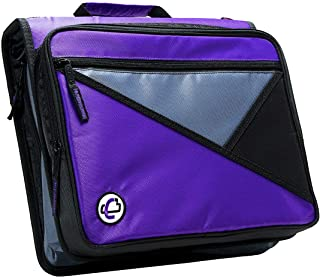 Case-It 1.5-Inch 3-Ring Zipper Binder with Removable Laptop Sleeve, Purple, LT-207-PU