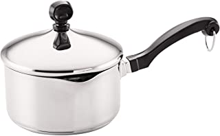 Farberware Classic Stainless Steel 1-Quart Covered Straining Saucepan - 70752 - Silver