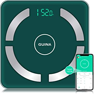 Body Fat Scale Bluetooth Digital, Bathroom Scale with BMI, Weight Scale with Body Fat Scale with 4 Hight Precision Sensors,Shatter-Resistant Tempered Glass and APP (Green)