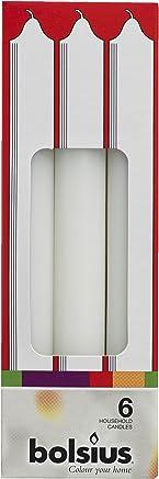 Bolsius 103607232205/Bougie d/îner Ivoire Cire de Paraffine