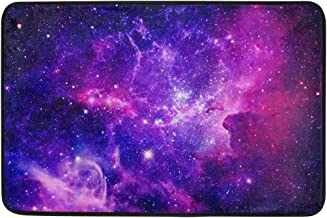 Mydaily Bursting Galaxy Stars Doormat 15.7 x 23.6 inch, Living Room Bedroom Kitchen Bathroom Decorative Lightweight Foam P...